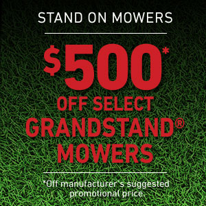 $500 Off GrandStand Mowers